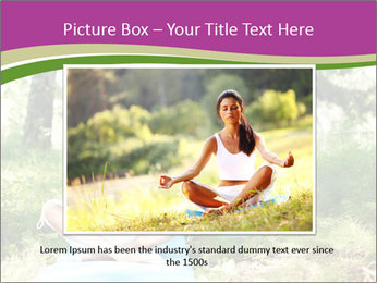 Woman Doing Forest Yoga PowerPoint Template - Slide 15