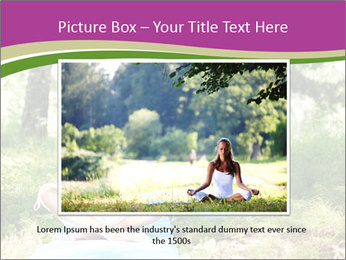 Woman Doing Forest Yoga PowerPoint Template - Slide 16