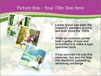 Woman Doing Forest Yoga PowerPoint Template - Slide 17