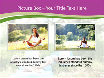 Woman Doing Forest Yoga PowerPoint Template - Slide 18