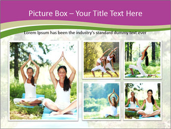 Woman Doing Forest Yoga PowerPoint Template - Slide 19