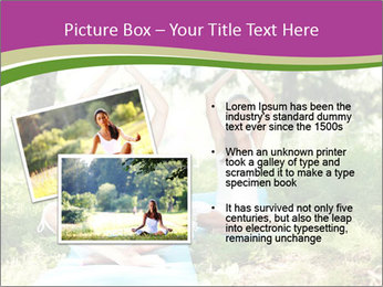 Woman Doing Forest Yoga PowerPoint Template - Slide 20