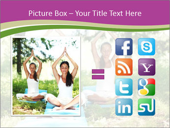 Woman Doing Forest Yoga PowerPoint Template - Slide 21
