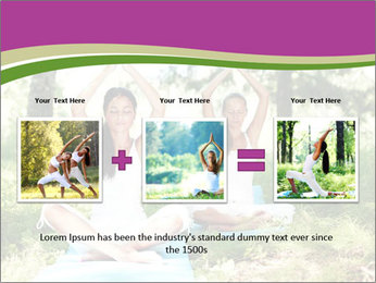 Woman Doing Forest Yoga PowerPoint Template - Slide 22