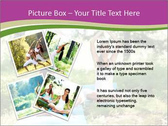 Woman Doing Forest Yoga PowerPoint Template - Slide 23