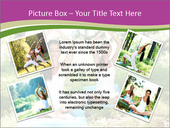 Woman Doing Forest Yoga PowerPoint Template - Slide 24