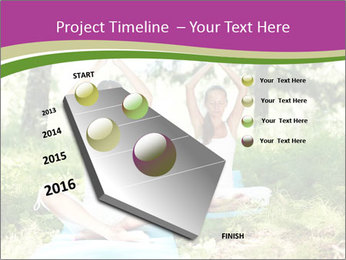 Woman Doing Forest Yoga PowerPoint Template - Slide 26