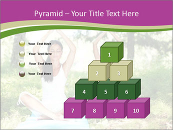 Woman Doing Forest Yoga PowerPoint Templates - Slide 31