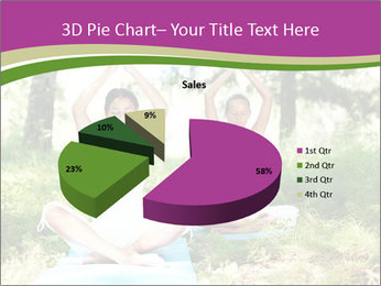 Woman Doing Forest Yoga PowerPoint Template - Slide 35