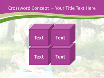 Woman Doing Forest Yoga PowerPoint Template - Slide 39