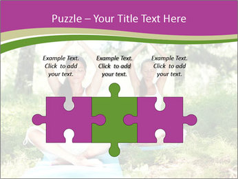 Woman Doing Forest Yoga PowerPoint Template - Slide 42