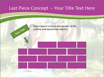 Woman Doing Forest Yoga PowerPoint Templates - Slide 46