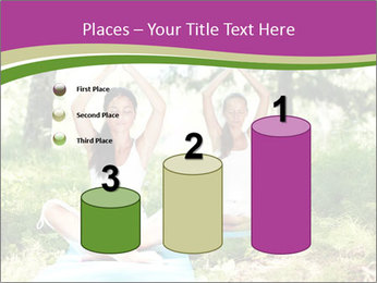 Woman Doing Forest Yoga PowerPoint Templates - Slide 65