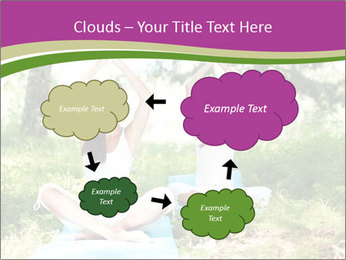 Woman Doing Forest Yoga PowerPoint Template - Slide 72