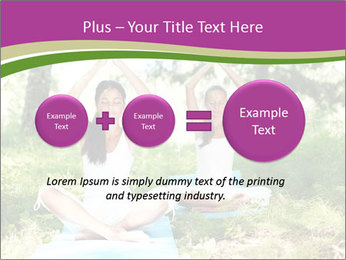 Woman Doing Forest Yoga PowerPoint Template - Slide 75