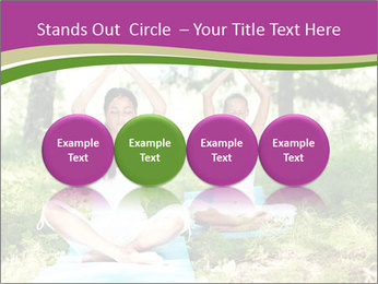 Woman Doing Forest Yoga PowerPoint Template - Slide 76