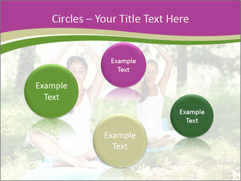 Woman Doing Forest Yoga PowerPoint Template - Slide 77