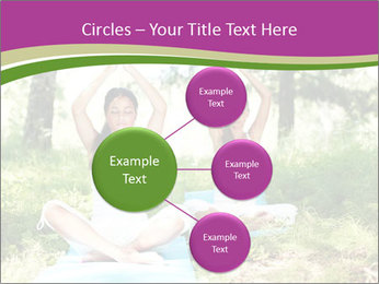 Woman Doing Forest Yoga PowerPoint Template - Slide 79
