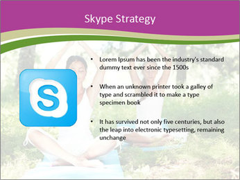 Woman Doing Forest Yoga PowerPoint Templates - Slide 8