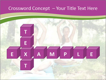 Woman Doing Forest Yoga PowerPoint Template - Slide 82