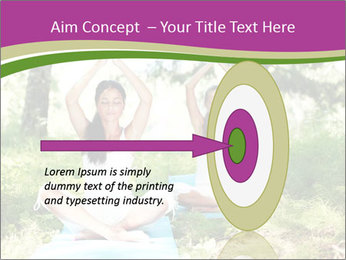 Woman Doing Forest Yoga PowerPoint Template - Slide 83