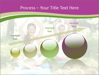 Woman Doing Forest Yoga PowerPoint Template - Slide 87