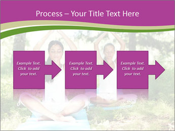 Woman Doing Forest Yoga PowerPoint Template - Slide 88