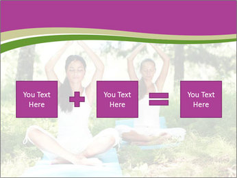 Woman Doing Forest Yoga PowerPoint Template - Slide 95