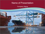 Big City Port PowerPoint Templates
