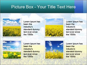 Sunny Sunflower Landscape PowerPoint Templates - Slide 14