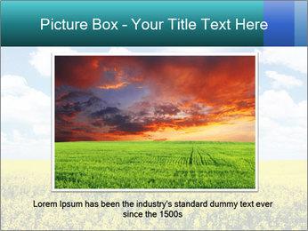 Sunny Sunflower Landscape PowerPoint Templates - Slide 15