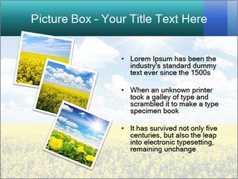 Sunny Sunflower Landscape PowerPoint Templates - Slide 17