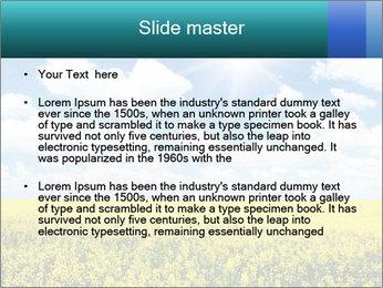 Sunny Sunflower Landscape PowerPoint Templates - Slide 2