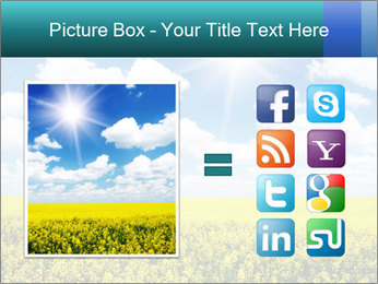 Sunny Sunflower Landscape PowerPoint Templates - Slide 21