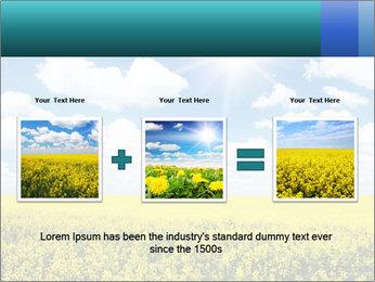 Sunny Sunflower Landscape PowerPoint Templates - Slide 22