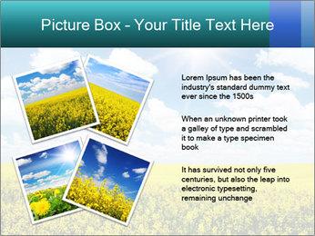 Sunny Sunflower Landscape PowerPoint Templates - Slide 23