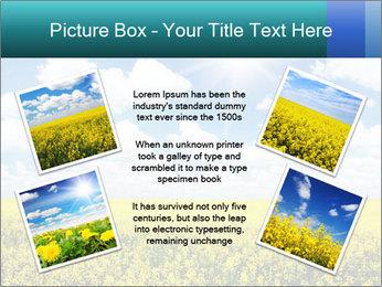 Sunny Sunflower Landscape PowerPoint Templates - Slide 24