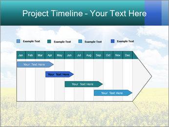 Sunny Sunflower Landscape PowerPoint Templates - Slide 25