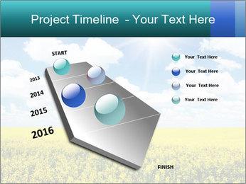 Sunny Sunflower Landscape PowerPoint Templates - Slide 26