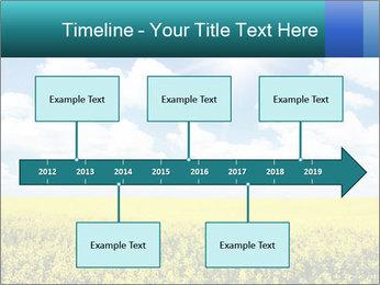 Sunny Sunflower Landscape PowerPoint Templates - Slide 28