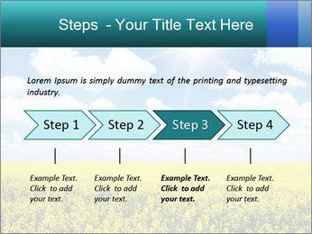 Sunny Sunflower Landscape PowerPoint Templates - Slide 4
