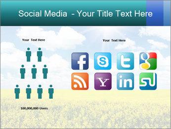 Sunny Sunflower Landscape PowerPoint Templates - Slide 5