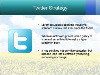 Sunny Sunflower Landscape PowerPoint Templates - Slide 9