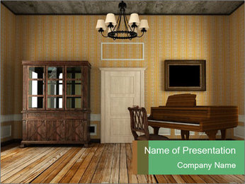 Old-Fashioned Livingroom PowerPoint Templates - Slide 1