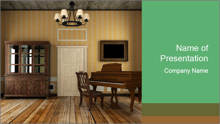 Old-Fashioned Livingroom PowerPoint Template