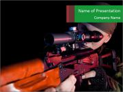 Army Gun PowerPoint Templates