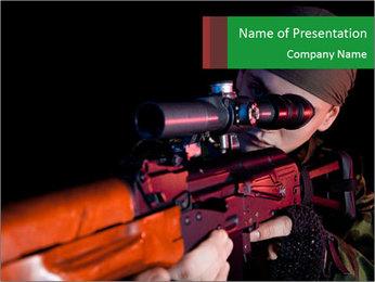Army Gun PowerPoint Template - Slide 1