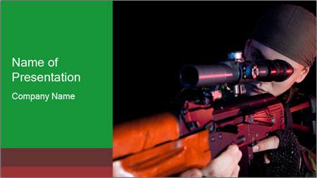 Army Gun PowerPoint Template