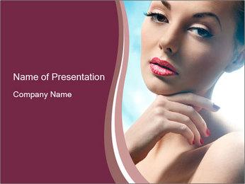 Woman's Pretty Portrait PowerPoint Template - Slide 1