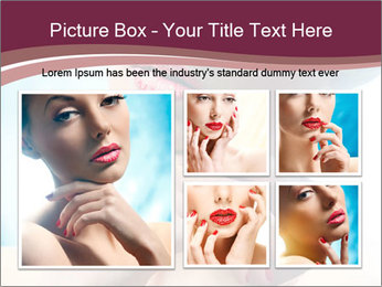 Woman's Pretty Portrait PowerPoint Template - Slide 19